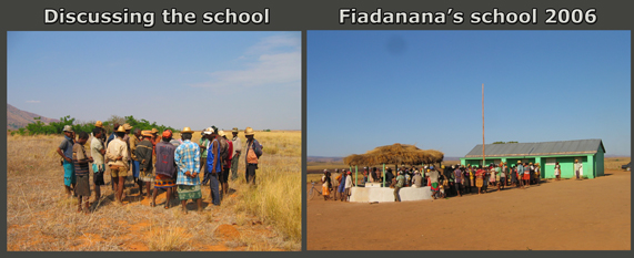 The community builts its school in Faidanana madagascar