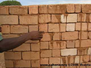 Bricks with mortar
