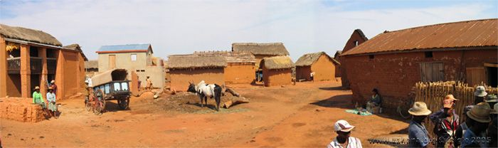 Village of Fiadanana inside panormama in 2005 before the houses where painted white