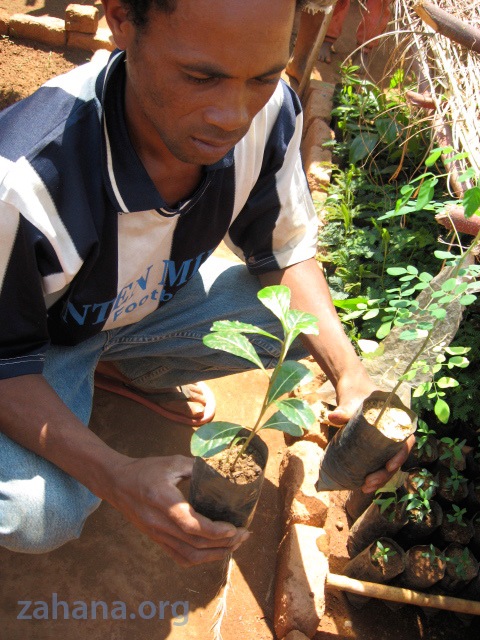 Our gardener in the village in Madagascar